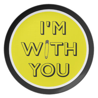 Safety Pin - I'm With You Dinner Plate