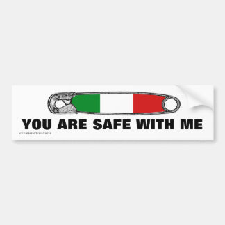 Safety Pin Movement - Latino Bumper Sticker