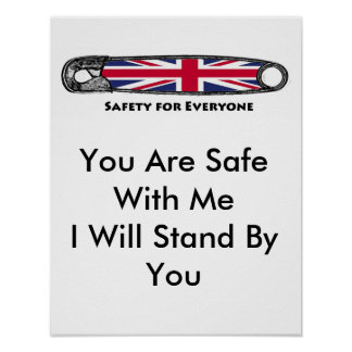 Safety Pin Project for the U.K. Poster