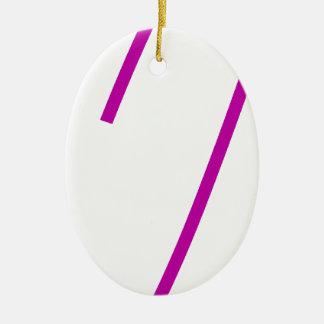 Safety Pin Purple Ceramic Oval Decoration