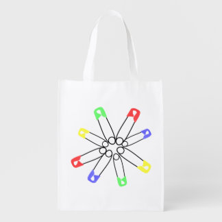 Safety Pin Red Yellow Blue Rainbow Solidarity