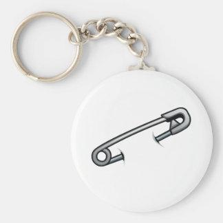 Safety pin solidarity key ring
