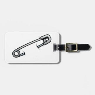 Safety pin solidarity luggage tag