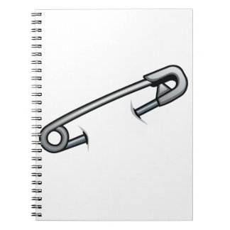Safety pin solidarity notebook