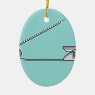 Safety Pin Vector Illustration Ceramic Oval Decoration