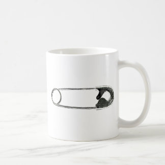 Safety Pin Woodcut Coffee Mug