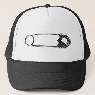 Safety Pin Woodcut Trucker Hat