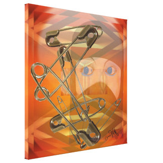 Safety Pins Canvas Print