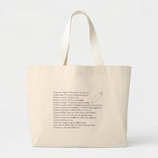 Safety Pledge Large Tote Bag