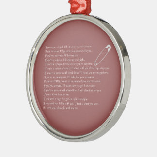 Safety Pledge Metal Ornament