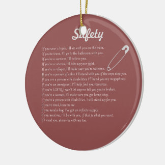 Safety Pledge Round Ceramic Decoration