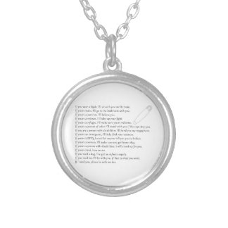 Safety Pledge Silver Plated Necklace