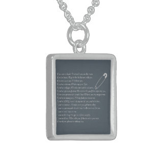 Safety Pledge Sterling Silver Necklace