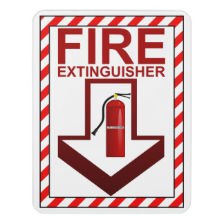 Safety Sign | Fire Extinguisher Sign Door Sign