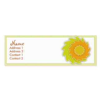 Safflower Profile Card Business Card