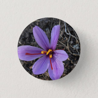 Saffron Blossoming 3 Cm Round Badge