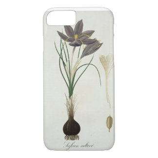Saffron Crocus from 'Phytographie Medicale' by Jos iPhone 7 Case