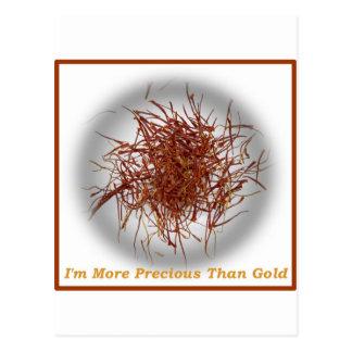 saffron gold postcard