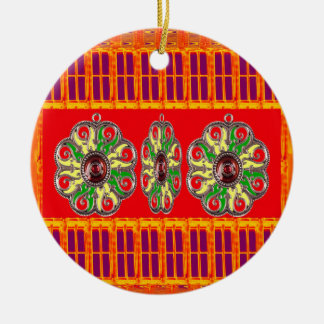 Saffron Red Holy Color Energy Healing Jewels India Ornament