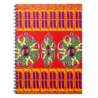 Saffron Red Holy Color Energy Healing Jewels India Notebook
