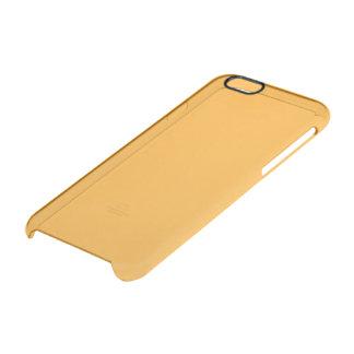 Saffron Solid Colour Clear iPhone 6/6S Case