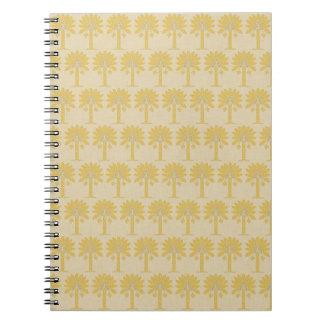 Saffron Spice Moods Palm Spiral Note Book