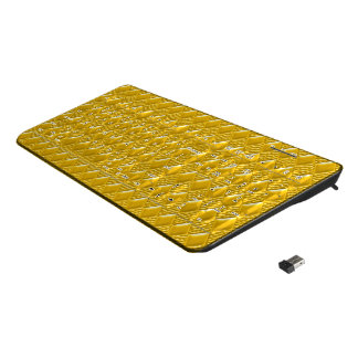 Saffron Yellow Wireless Keyboard
