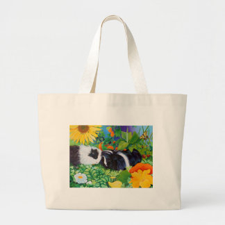 Safi and Zaria Guinea Pigs Large Tote Bag