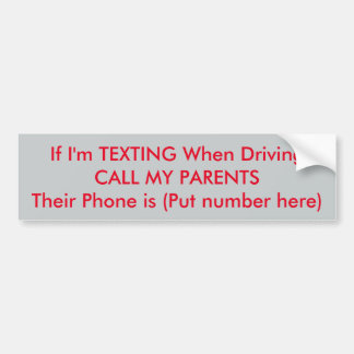 Saftey Bumper Sticker for Young Drivers