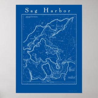 Sag Harbor, New York Nautical Chart Poster