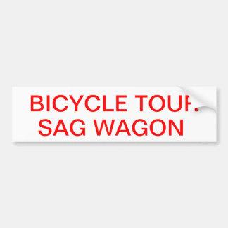 sag wagon sticker bumper sticker