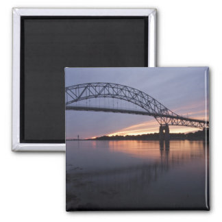 Sagamor Bridge over Cape Cod canal, Square Magnet