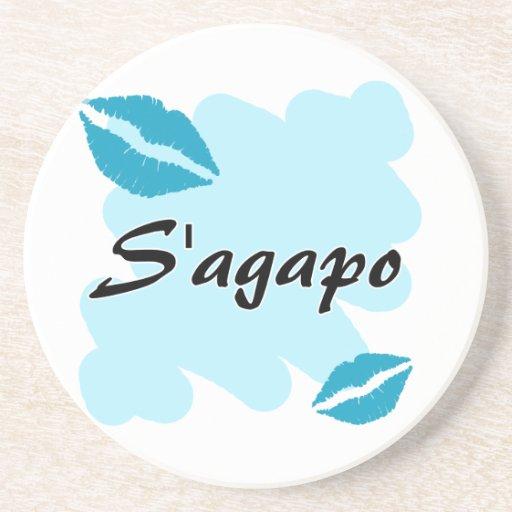 S'agapo - Greek - I love you Coaster