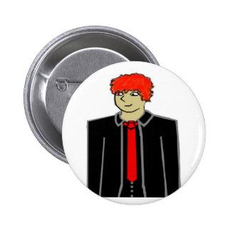 Sage 6 Cm Round Badge