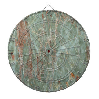 Sage and Rust Marble Dartboard