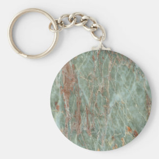 Sage and Rust Marble Key Ring