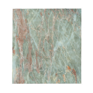 Sage and Rust Marble Notepad