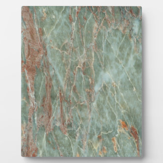 Sage and Rust Marble Plaque