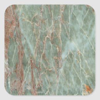 Sage and Rust Marble Square Sticker