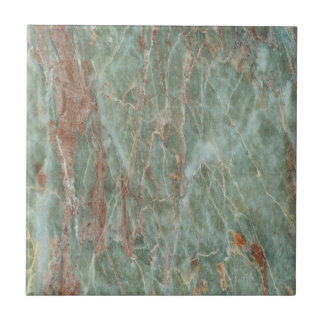 Sage and Rust Marble Tile