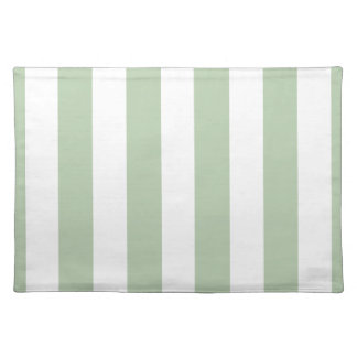 Sage and White Striped Placemat
