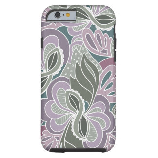 Sage Blush Garden Pattern Tough iPhone 6 Case