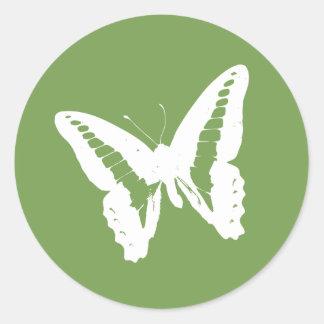 Sage Butterfly Envelope Sticker Seal