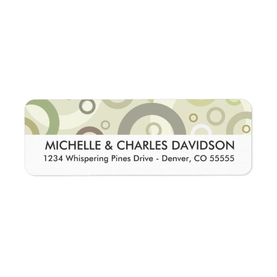 Sage Circles Customised Return Address Labels