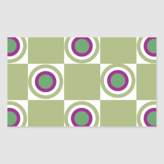 Sage Circles Rectangular Sticker