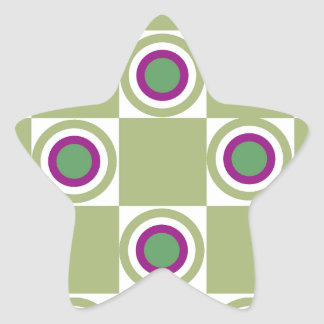 Sage Circles Star Sticker