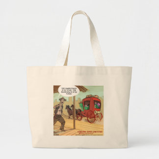 Sage Coach Is In Town Funny Large Tote Bag