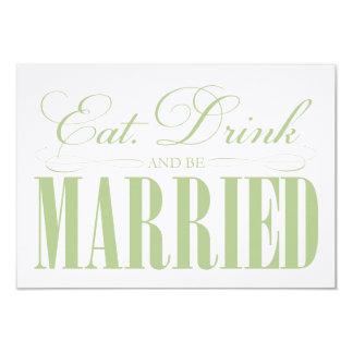 Sage Eat, Drink & Be Married   Enclosure Card