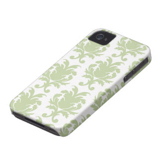sage green bold large damask pattern iPhone 4 Case-Mate cases