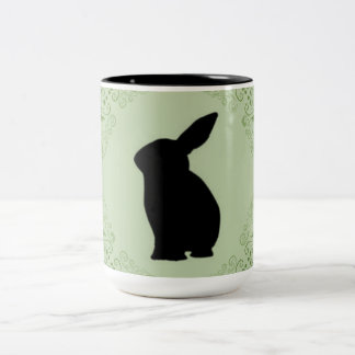 Sage-Green_Bunny_Magic Two-Tone Coffee Mug